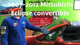 Mitsubishi eclipse convertible 2007 - 2012 windshield replacement by Alfredo's Auto Glass repair
