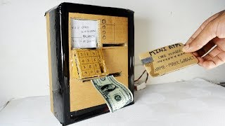 How to Make ATM Machine easily At Home | Using Card-Board