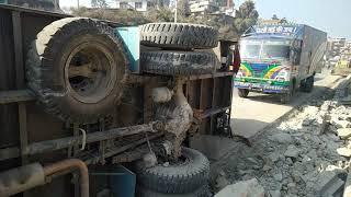 Ring Road Accident in Kalanki Kathmandu Full Video - कलंकी रिङ्गरोडमा भएको कन्टेनर ट्रक दुर्घटना