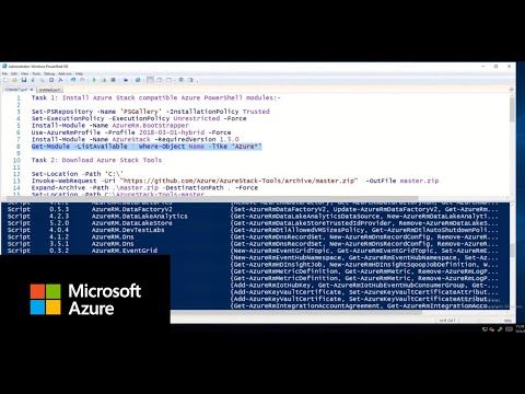 How to connect to Azure Stack using PowerShell - YouTube