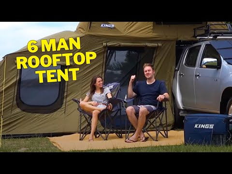Adventure Kings 6 Man Roof Top Tent With Annex Is The