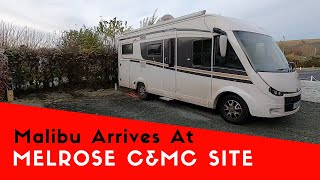 Arriving At Melrose Caravan And Motorhome Club Site In The Malibu | Malibu Scottish Tour 2019