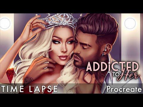 "Time Lapse: ""Addicted to Her"" Cover - Episode Interactive Digital Painting Procreate"