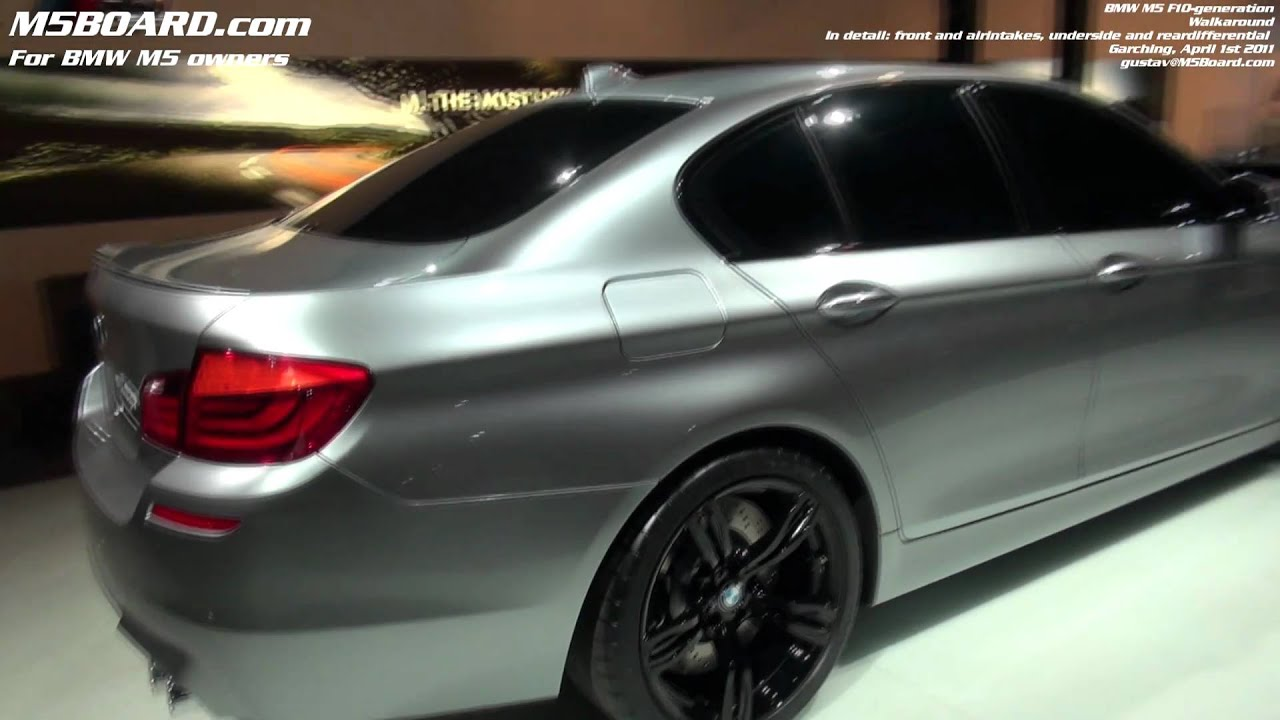 Underside, diff in detail BMW M5 Concept F10 - YouTube