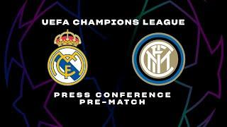 REAL MADRID vs INTER | CONTE + VIDAL PRE-MATCH PRESS CONFERENCE | 🎙️⚫🔵