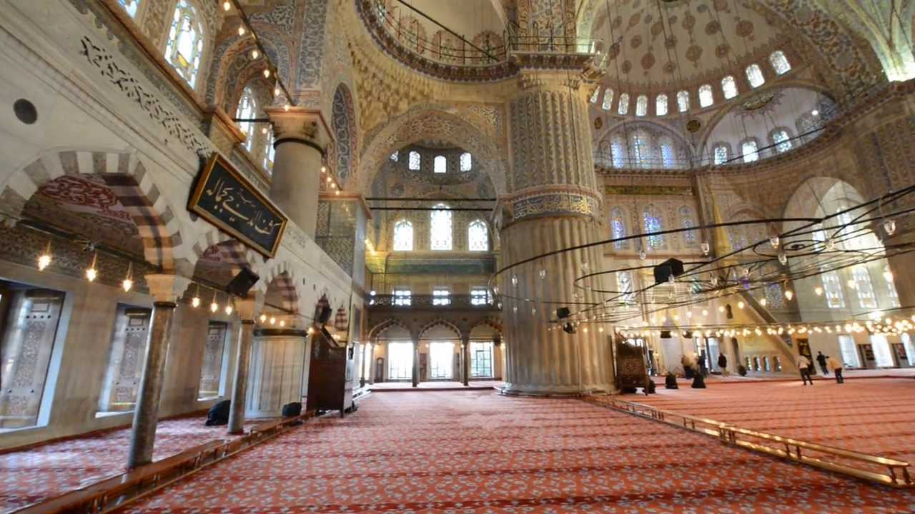 Blue Mosque (Interior) in Istanbul - YouTube