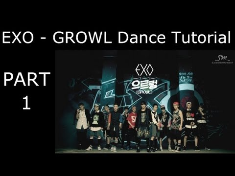 DANCE TUTORIAL - EXO - Growl - Part 1 - Mirrored