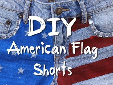 DIY American Flag Jean Shorts - YouTube