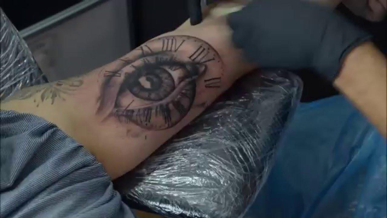 Time Lapse Eye Tattoo  Youtube