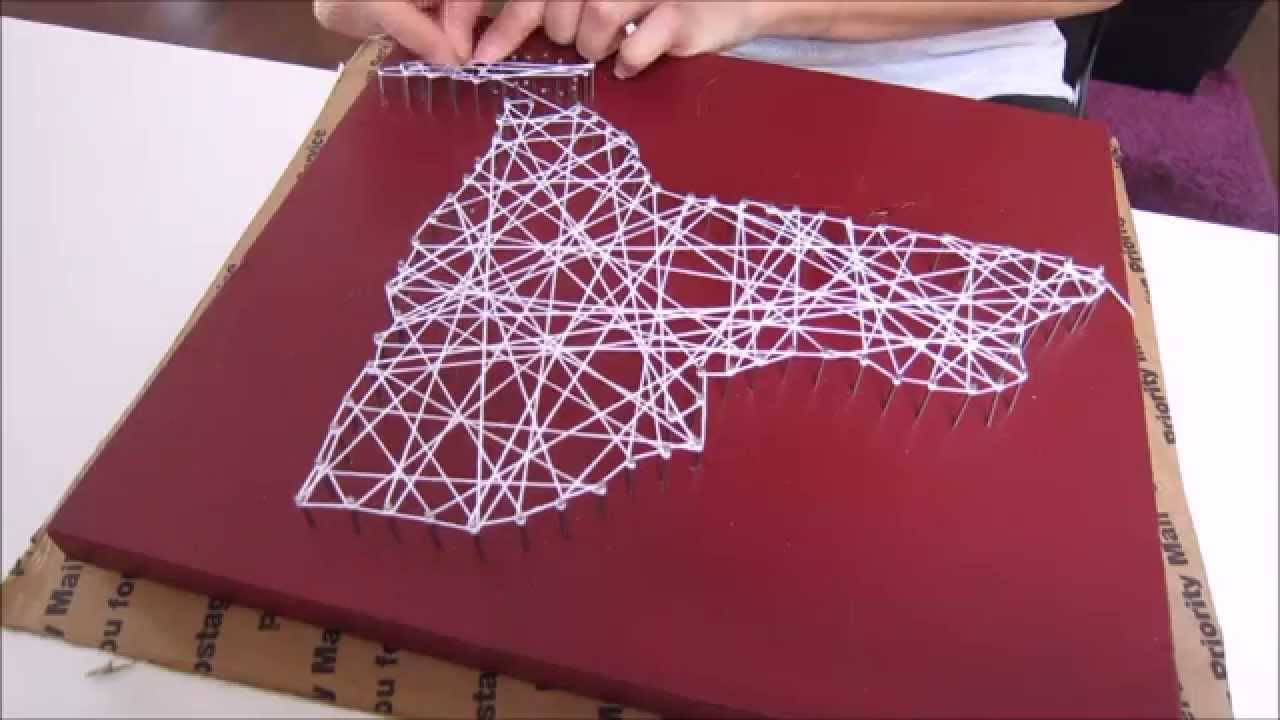 Diy string art new york home decor youtube for New york home decorations
