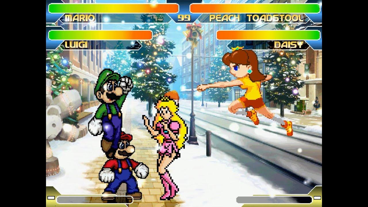 Download Mugen Christmas Special #1: Mario & Luigi Vs Princess Peach & Daisy