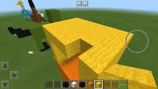 Construindo o ducky do toy story 4 (Minecraft)