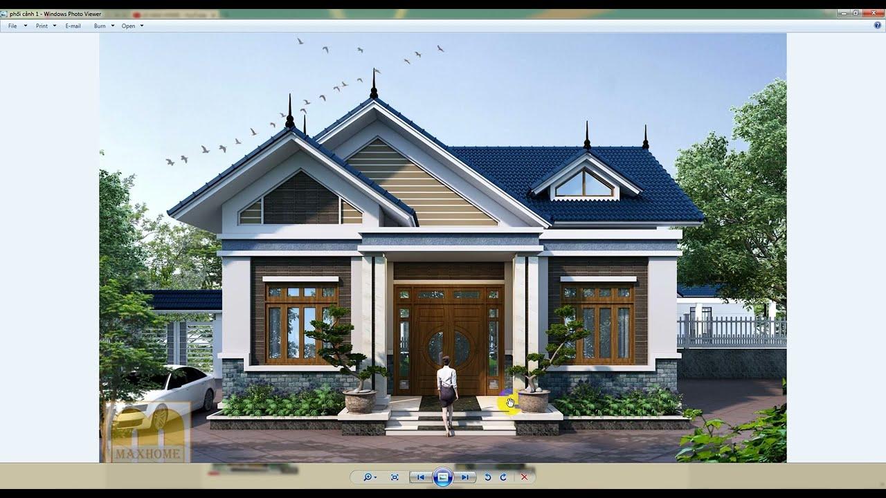 Mẫu nhà cấp 4 mái thái đẹp nhất Lạng Sơn giá chỉ 500tr do maxhome thiết kế