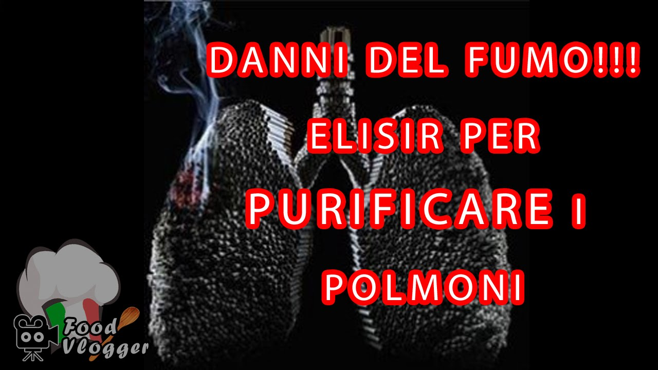Elisir Medicinale Fai Da Te Per Pulire I Polmoni Dei Fumatori Youtube