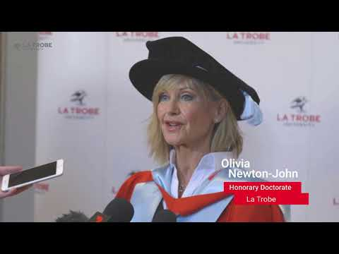Olivia Newton John on receiving her Honorary Doctorate from La Trobe