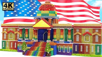 DIY - How To Build United States Capitol From Magnetic Balls (Satisfying) | Magnet World Series