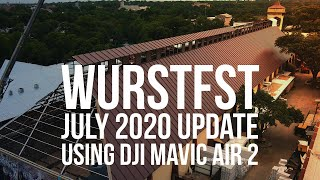 Wurstfest Construction Update - July 2020 (DJI Mavic Air 2 in New Braunfels)