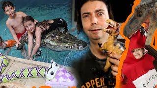 تمساح_للمسبح_وكاتشب_للديناصور!