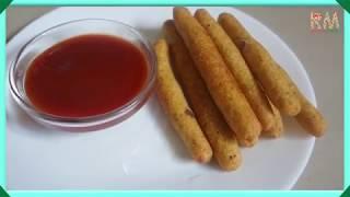 How to make potato fingers - easy potato snacks recipe for kids