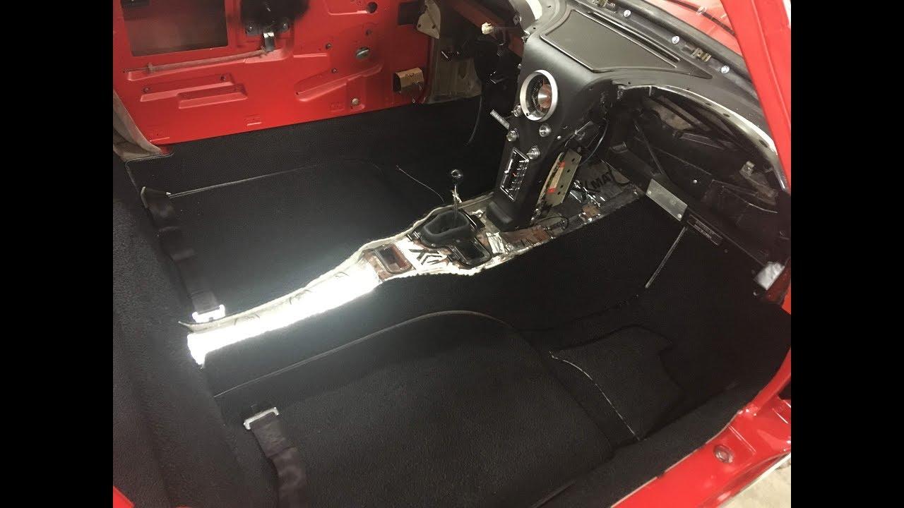 1963 1967 Corvette Carpet Install Youtube