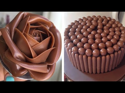 Extra Chocolate Cake Decorating Tutorial | Easy And Chocolate Cake Decorating Ideas | Top Yummy