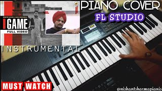 Game - Shooter Kahlon | Sidhu Moose Wala | Piano Cover| Instrumental | FL Studio | Karaoke | 2020