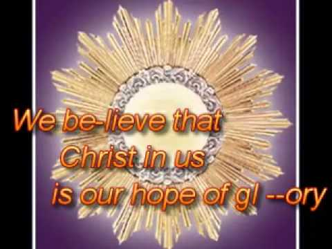Christ in us, our Hope of Glory: Accompaniment by Jonas Lalantacon