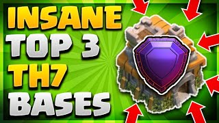 INSANE TOP 3 TOWN HALL 7 (TH7) TROPHY/LEGEND LEAGUE BASE STRATEGY 2019 - Clash Of Clans