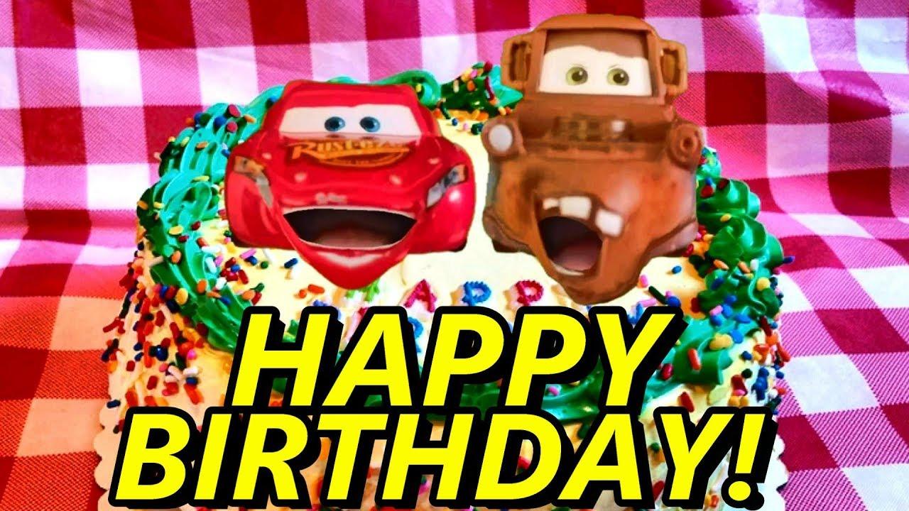 Disney Cars Happy Birthday Greeting Ecard Disney Cars Birthday Cake