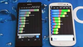 Xperia Z vs Galaxy S3 Deutsch Quadrant Standard Benchmark Test - Sony Xperia Z Benchmark German
