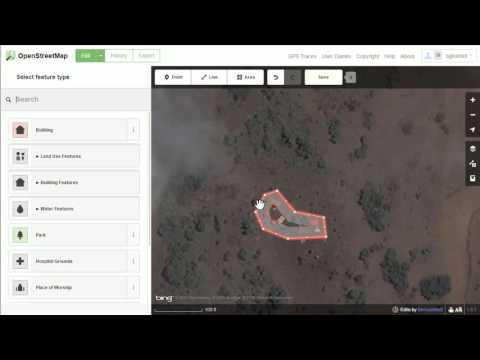 Basic iD Building, Road, Residential Area Mapping with iD Web Editor - Tanzania