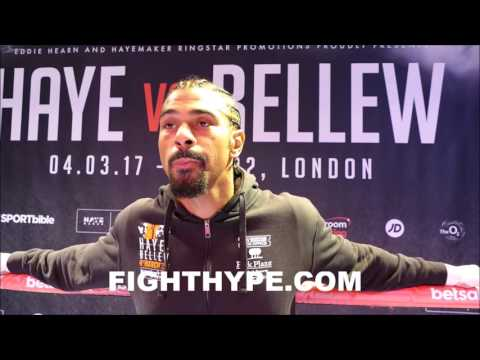 """DAVID HAYE REACTS TO ANTHONY JOSHUA BACKING BELLEW; INSISTS """"JOSHUA DOESN'T WANT ANY PART OF ME"""""""