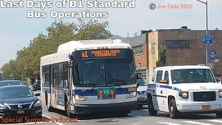 MTA New York City Bus: Last Days of B1 Standard Bus Operations (April Fool's)
