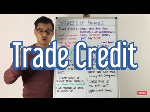 Trade Credit - Sources of Finance