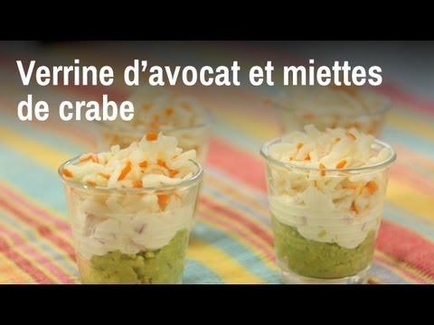 Verrine D Avocat Et Miettes De Crabe Parfait En Aperitif Youtube