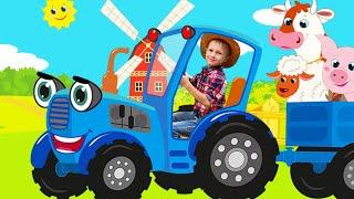 La vieja MacDonald tenía una granja - Canciones Infantiles con Alex y Nastya