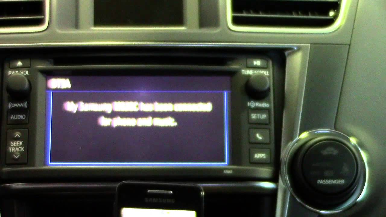 Toyota West Statesville How To Setup An Android Phone On A 2013 Toyota Highlander Youtube