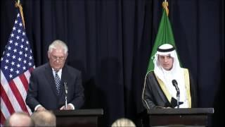 Secretary of State Tillerson Speaks at Joint Press Briefing in Saudi Arabia - 5/20/17
