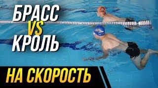 Кроль vs Брасс на скорость. Кто победит в заплыве на 50 метров?