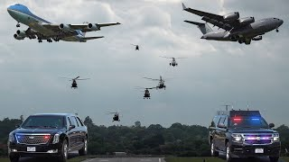 President Joe Biden's helicopters, planes and motorcades in London