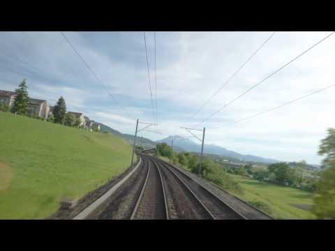 CabView : SBB Re4/4, Switzerland Vol.4 'the railway to Luzern'   [FHD60p]