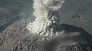 Santiaguito Volcano Eruption.  Santa Maria complex.