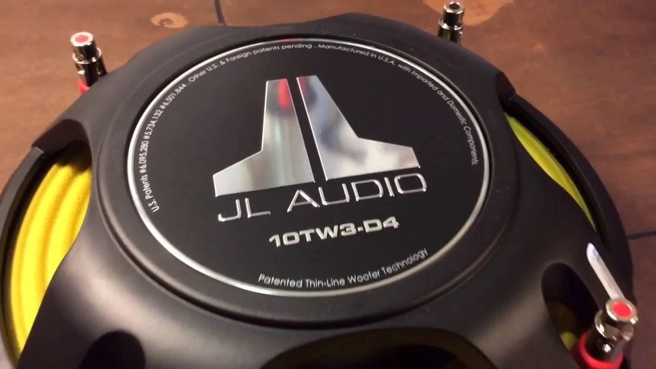 Subwoofer Plano Jl Audio 10TW3 - YouTube
