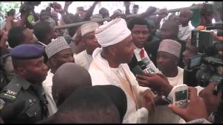 Saraki at Eid praying ground in Ilorin