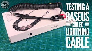 Testing a Baseus 'Elastic Data Cable' coiled Lightning cable (CALIGHTNG-EL01)