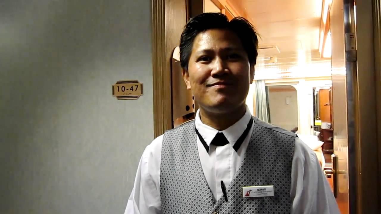 Room Steward On The Carnival Freedom YouTube - Steward cruise ship