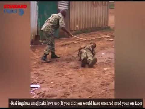 Leaked video shows Kenyan officer beating serviceman