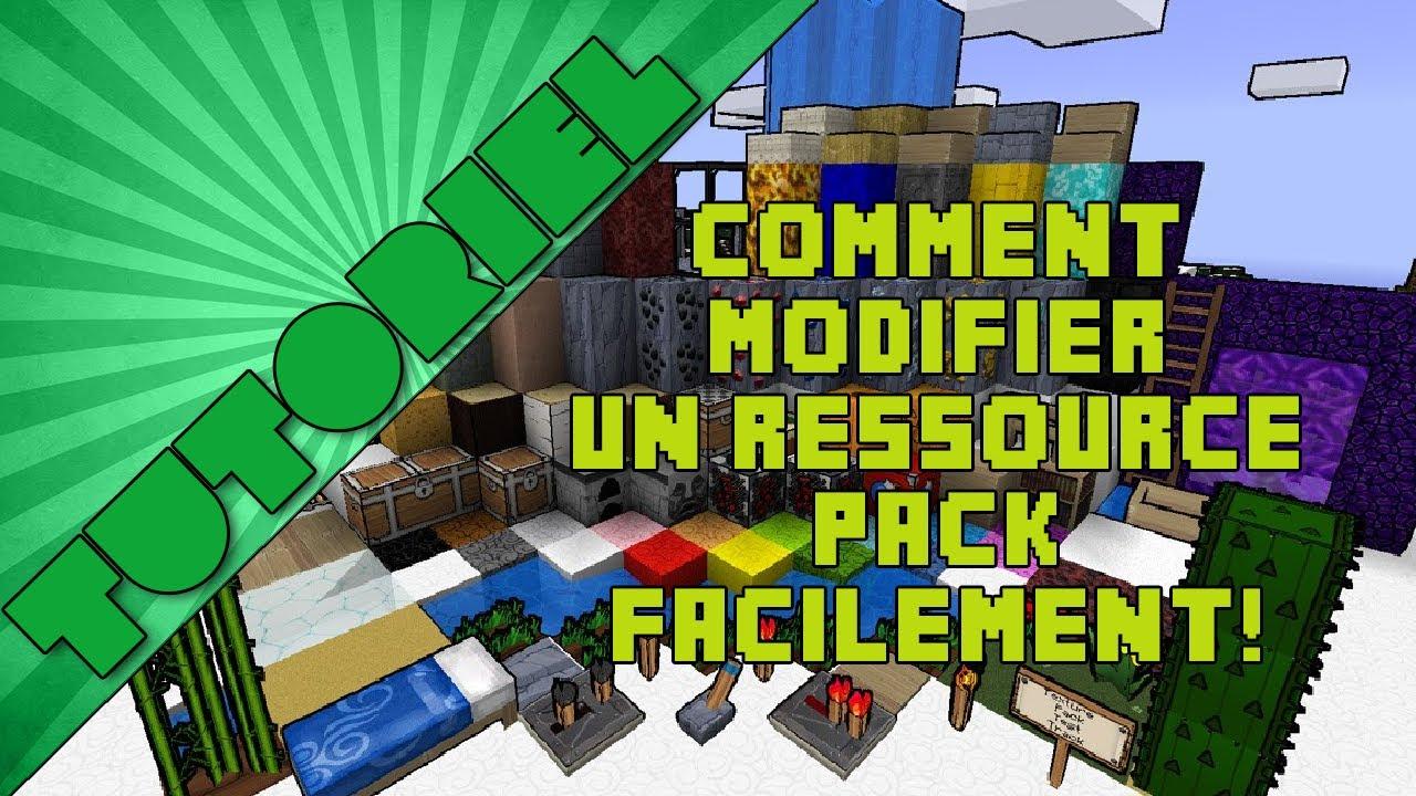 TUTO - FR - Comment modifier un ressource pack facilement ! - YouTube