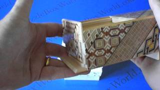 A Beautiful 4 Sun 21 Step Yosegi Japanese Puzzle Box !