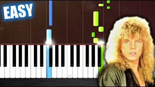 Europe - The Final Countdown - EASY Piano Tutorial by PlutaX